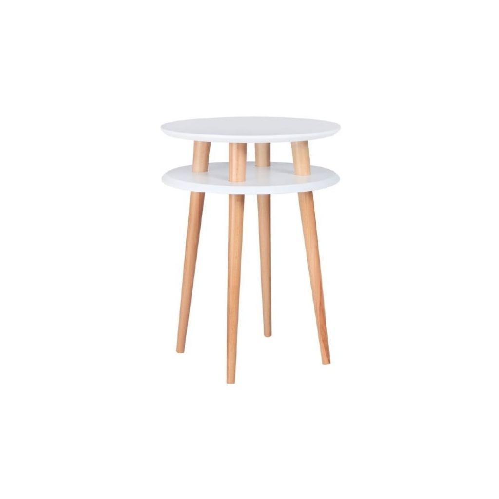 Produktové foto Bílý odkládací stolek Ragaba UFO,Ø45 cm
