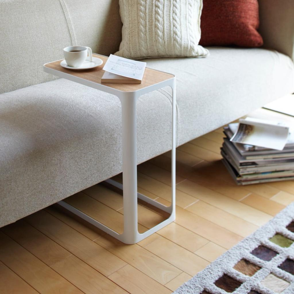 Produktové foto Bílý stolek YAMAZAKI Frame