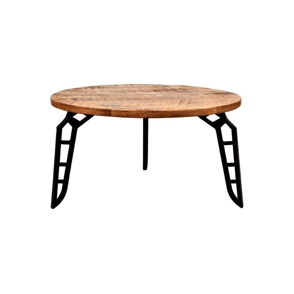 Produktové foto Konferenční stolek sdeskou zmangového dřeva LABEL51 Flintstone, ⌀80cm