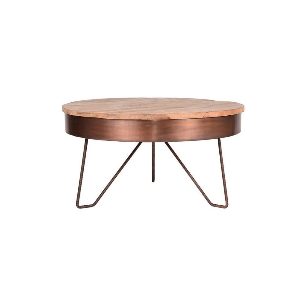 Produktové foto Konferenční stolek vměděné barvě sdeskou zmangového dřeva LABEL51 Saran, ⌀80cm