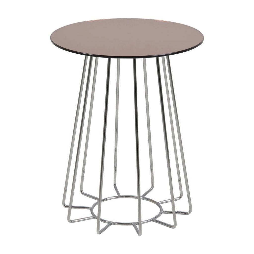 Produktové foto Odkládací stolek s deskou ze zrcadlového skla Actona Casia, ⌀40cm