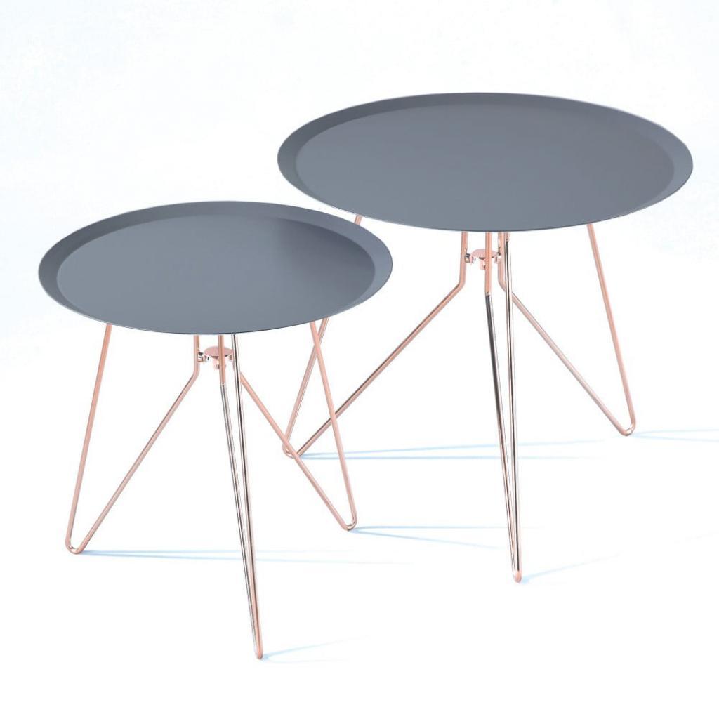 Produktové foto Sada 2 modrých odkládacích stolků Tomasucci Jolli