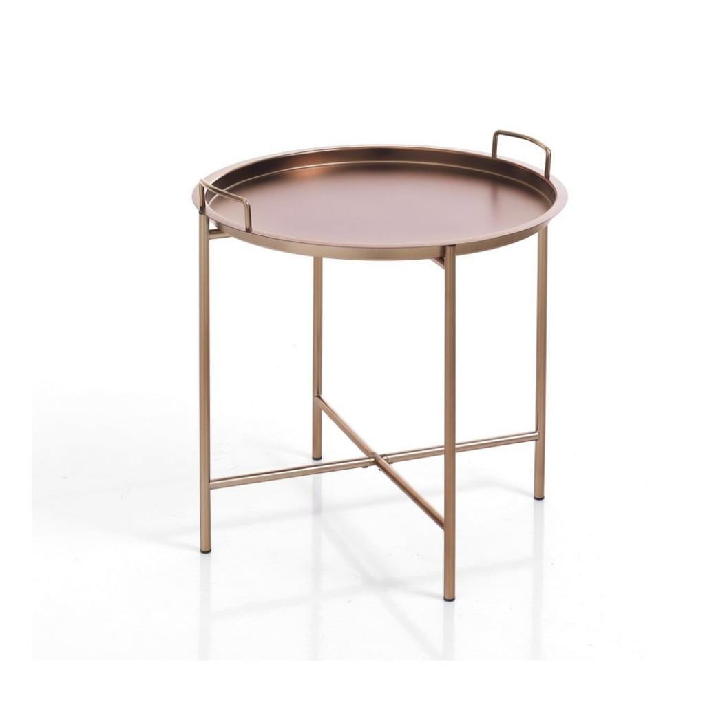 Produktové foto Odkládací stolek v měděné barvě s odnímatelným podnosem Tomasucci Vagna, ⌀ 45cm