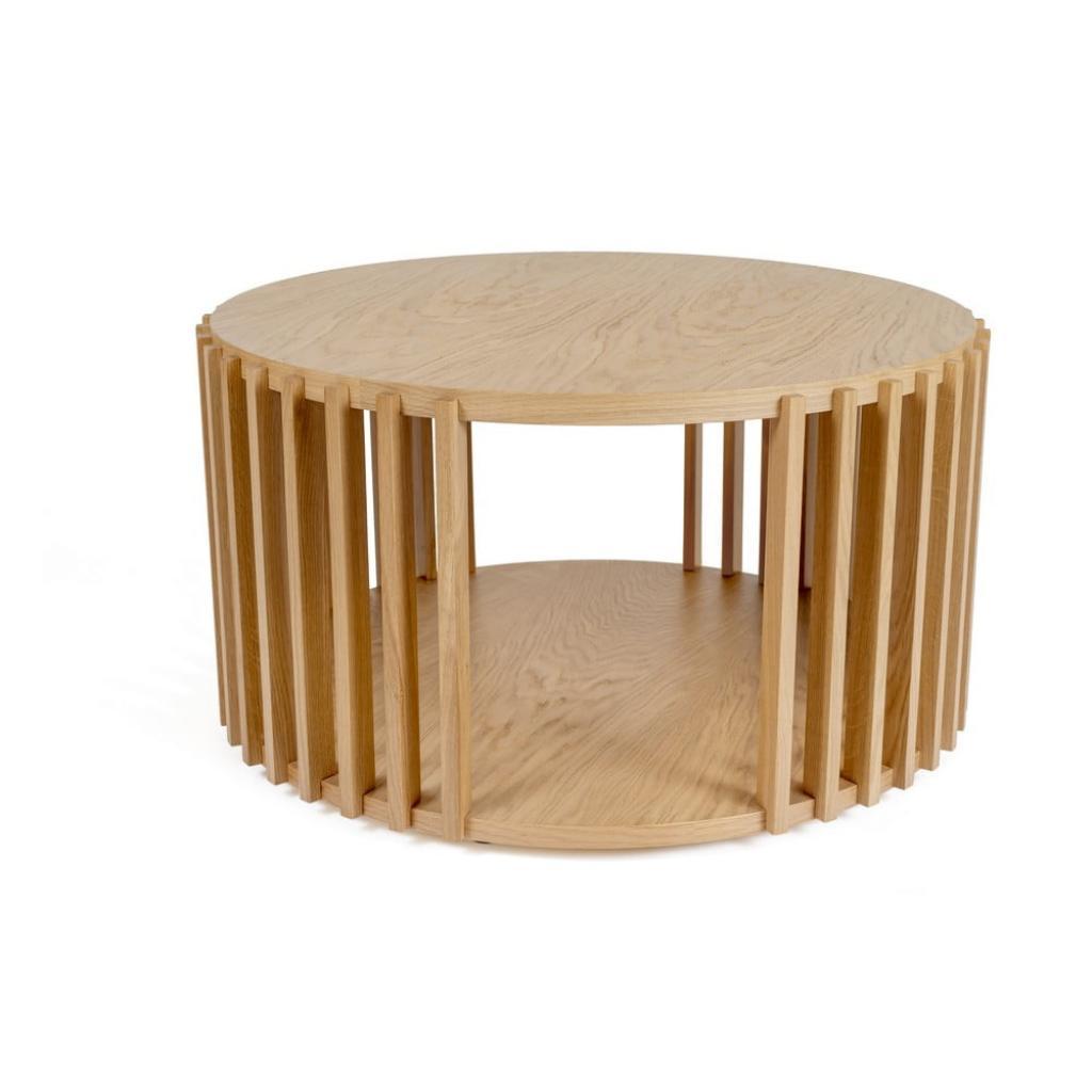 Produktové foto Konferenční stolek z dubového dřeva Woodman Drum, ø 83 cm