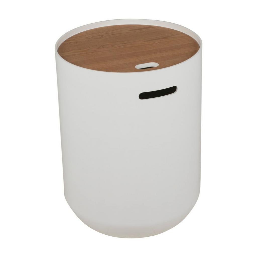 Produktové foto Bílý odkládací stolek Canett Olivia Ø 39cm