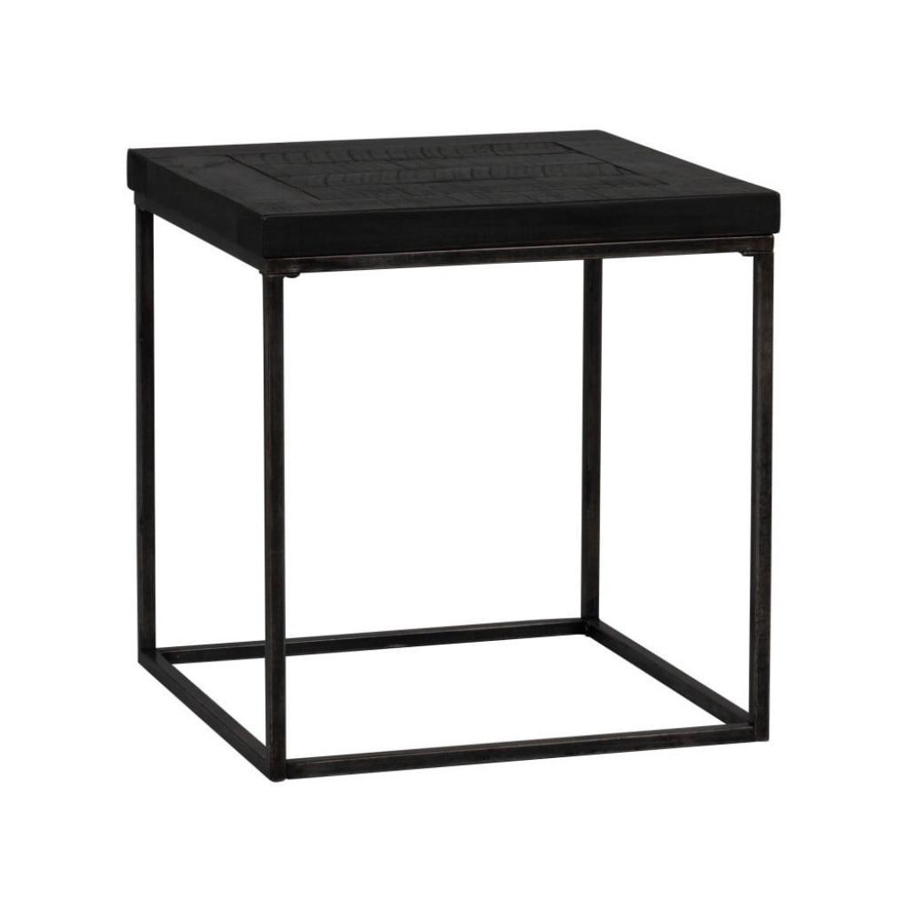 Produktové foto Černý dřevěný odkládací stolek Rowico Lato