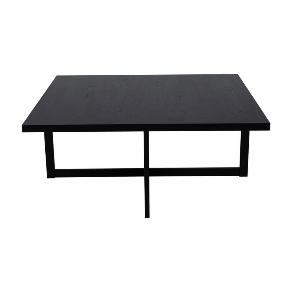 Produktové foto Černý konferenční stolek z dubového dřeva Canett Elliot, 100 x 100 cm