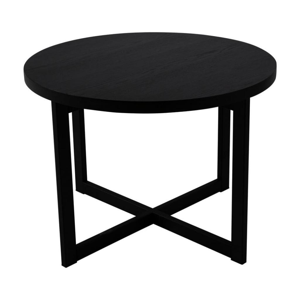 Produktové foto Černý konferenční stolek z dubového dřeva Canett Elliot, ø 70 cm
