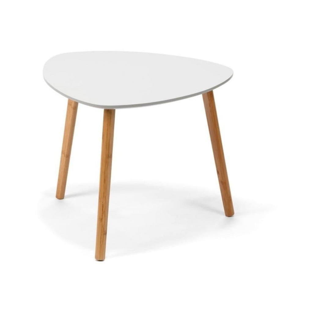 Produktové foto Bílý odkládací stolek loomi.design Viby, 55x55cm