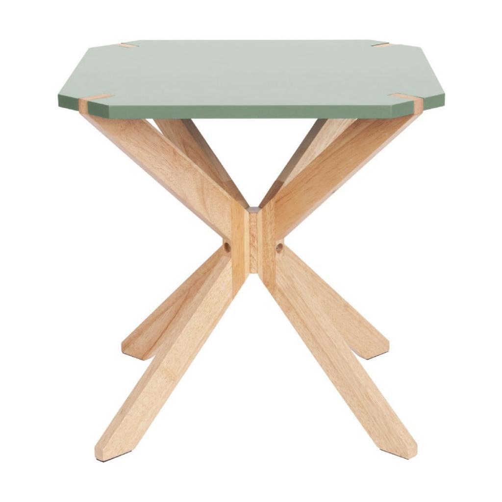 Produktové foto Mátově zelený odkládací stolek Leitmotiv Mister, 45x45cm