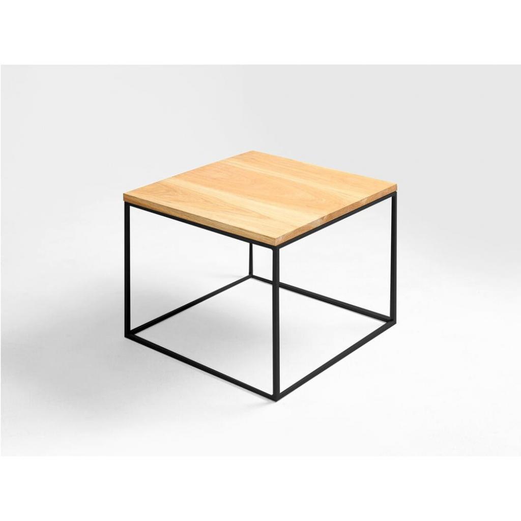 Produktové foto Odkládací stolek s černou konstrukcí Custom Form Tensio, 50 x 50 cm