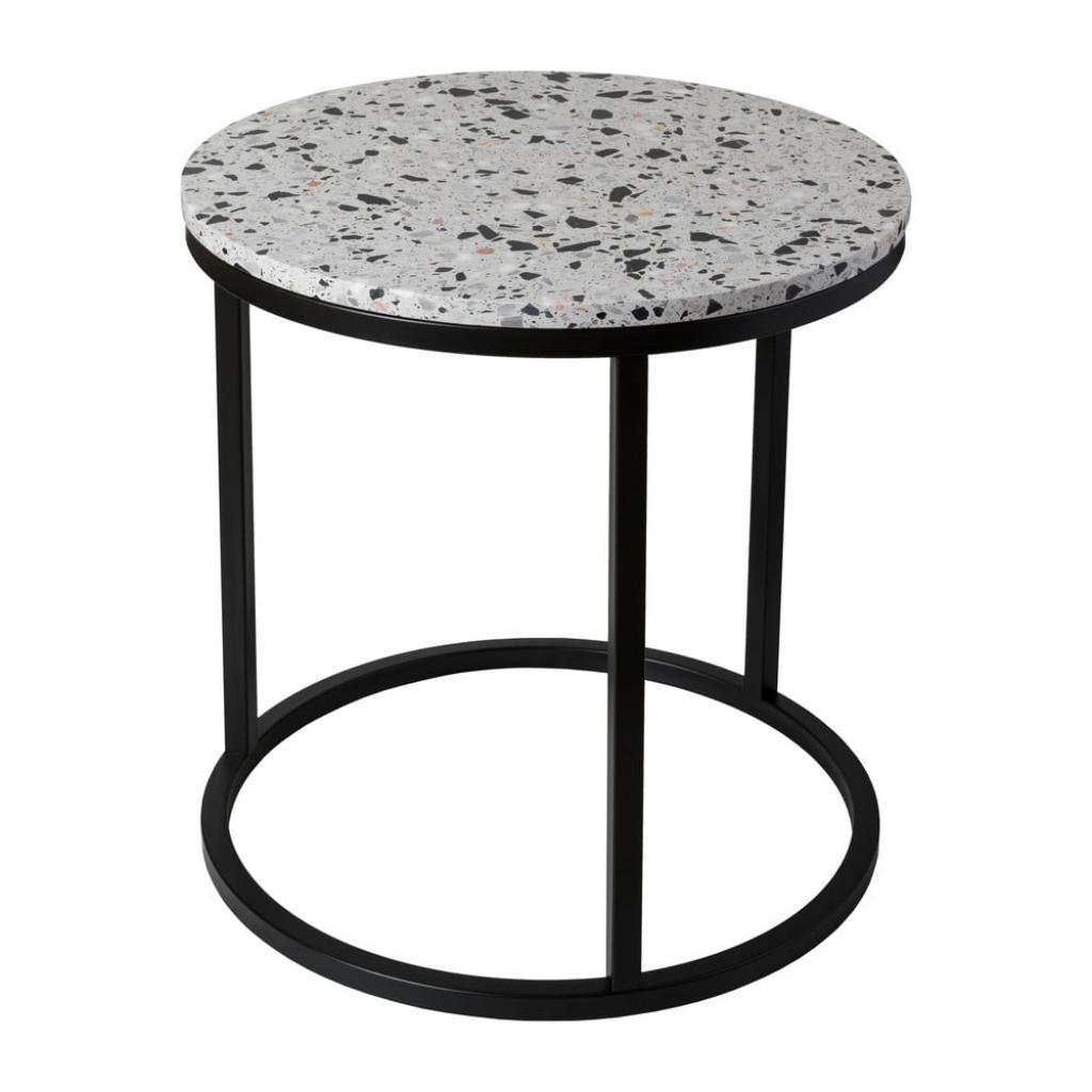 Produktové foto Odkládací stolek s kamennou deskou RGE Cosmos, ø 50 cm