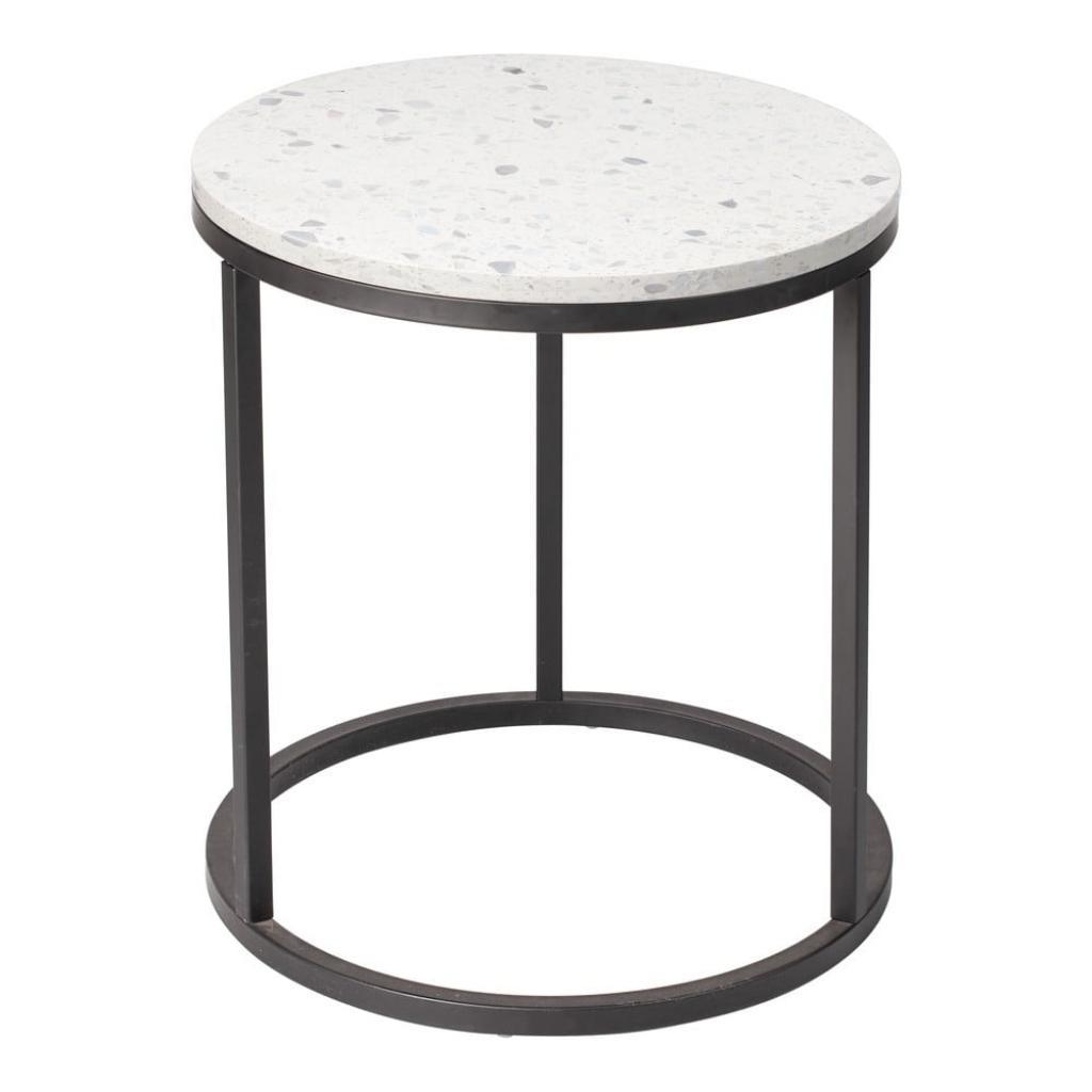 Produktové foto Odkládací stolek s kamennou deskou RGE Bianco, ø 50 cm