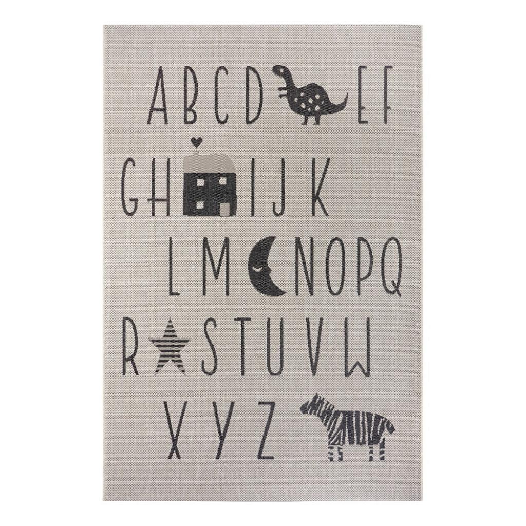 Produktové foto Černo-šedý dětský koberec Ragami Letters, 200 x 290 cm