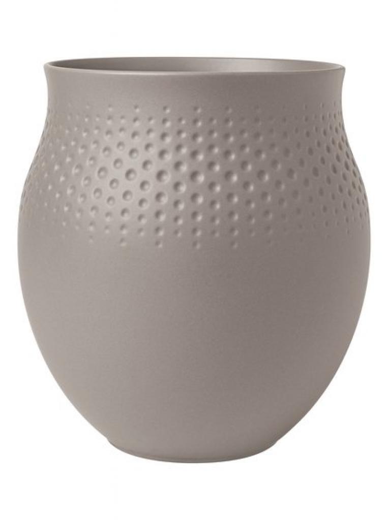 Produktové foto Villeroy & Boch Collier Taupe porcelánová váza Perle, 18 cm