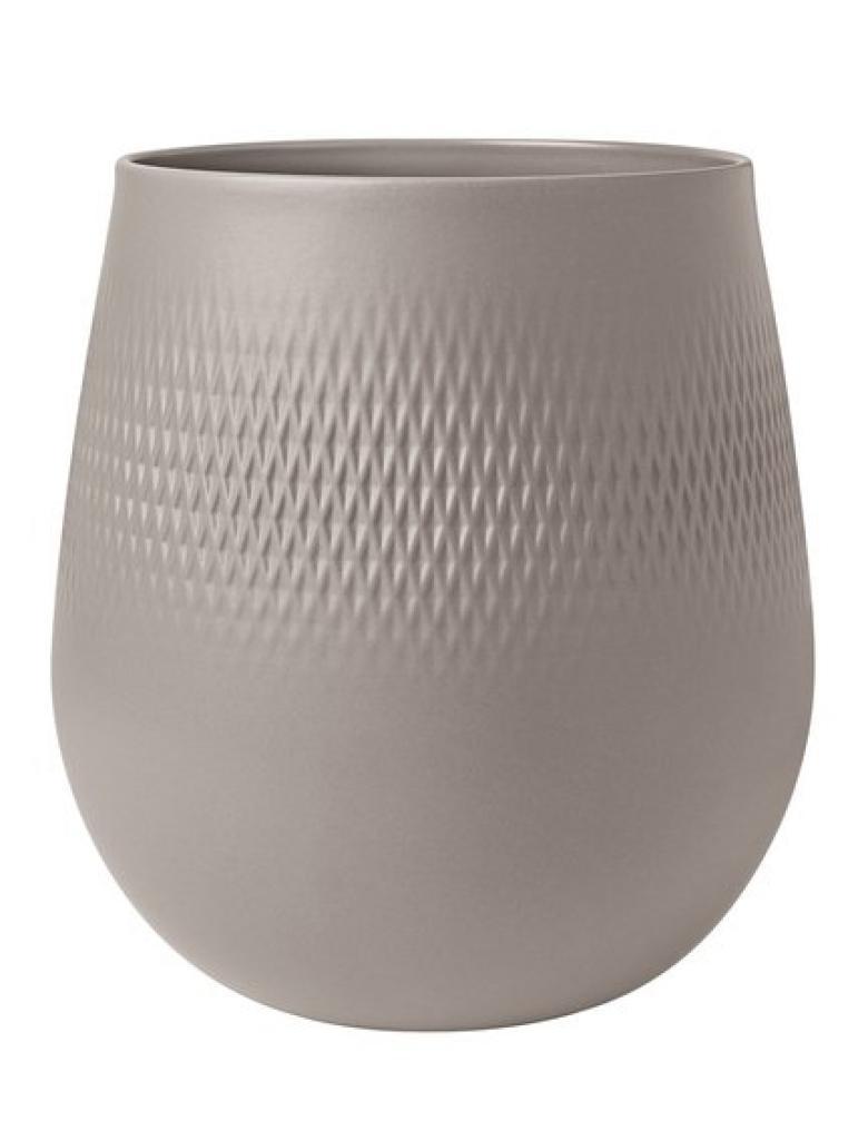Produktové foto Villeroy & Boch Collier Taupe porcelánová váza Carré, 23 cm