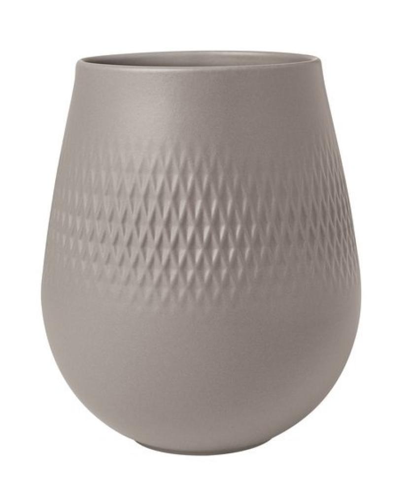 Produktové foto Villeroy & Boch Collier Taupe porcelánová váza Carré, 15 cm