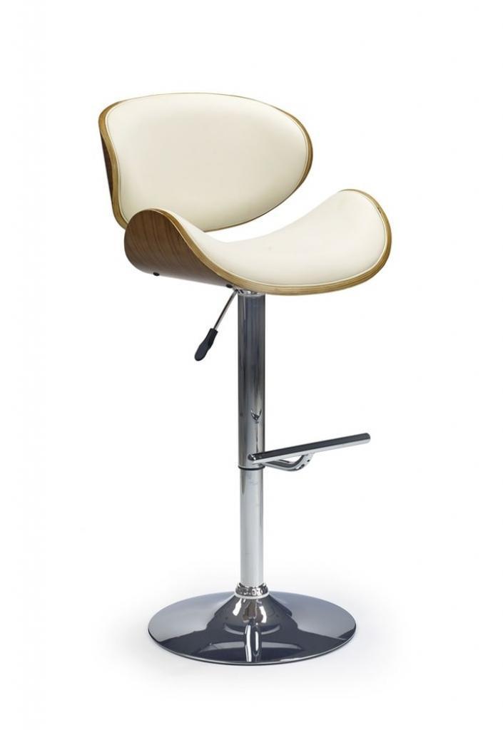 Produktové foto Halmar Barová židle H-44, ořech/krémová