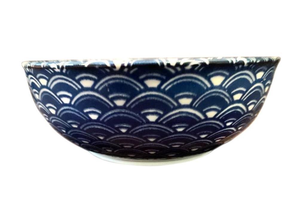 Produktové foto Miska Blue & White Wave Design 16 cm 650 ml MIJ