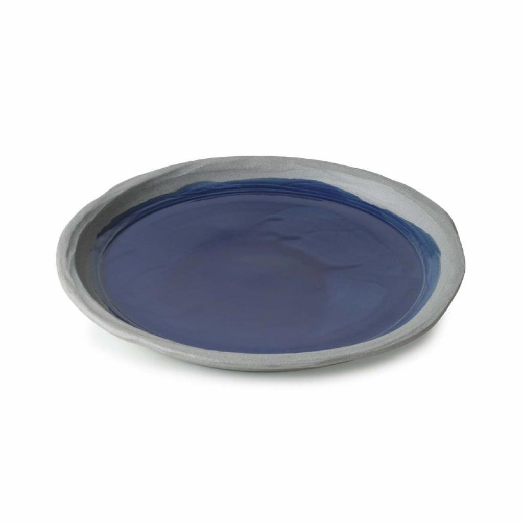 Produktové foto Mělký talíř No.W Revol modrý glazovaný 21 cm