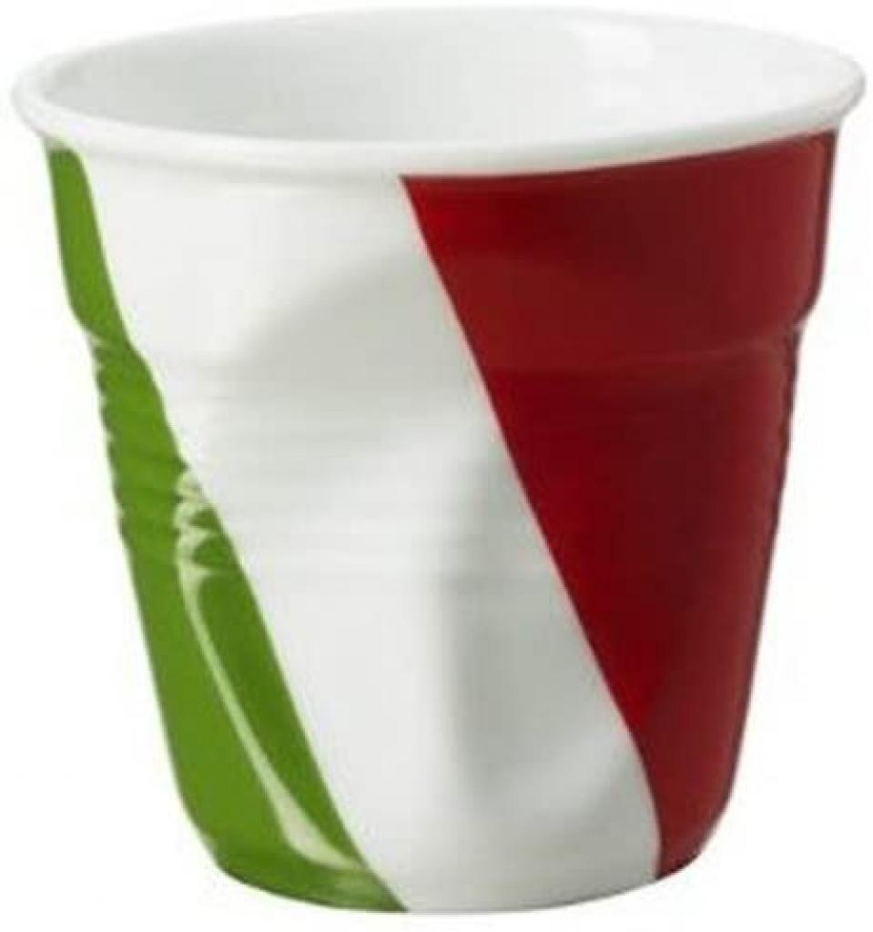 Produktové foto Kelímek na espresso 8 cl s italskou vlajkou Froissés REVOL