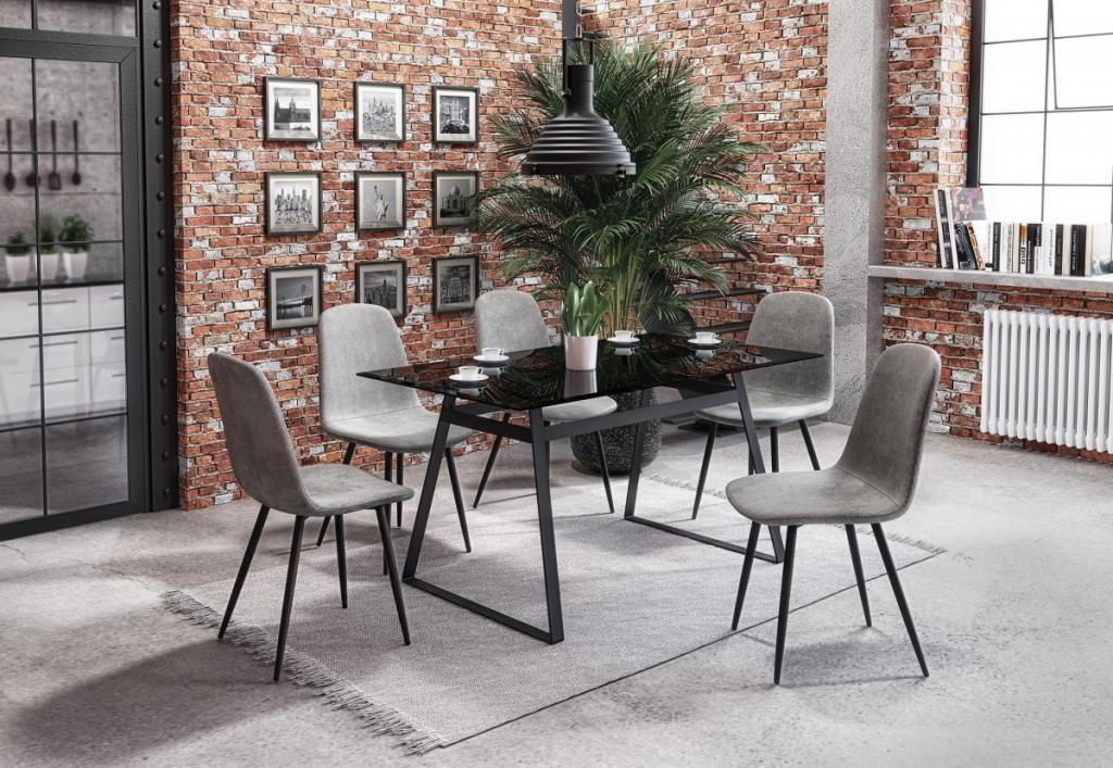 Produktové foto Halmar Jídelní stůl Herald kouřový/černý
