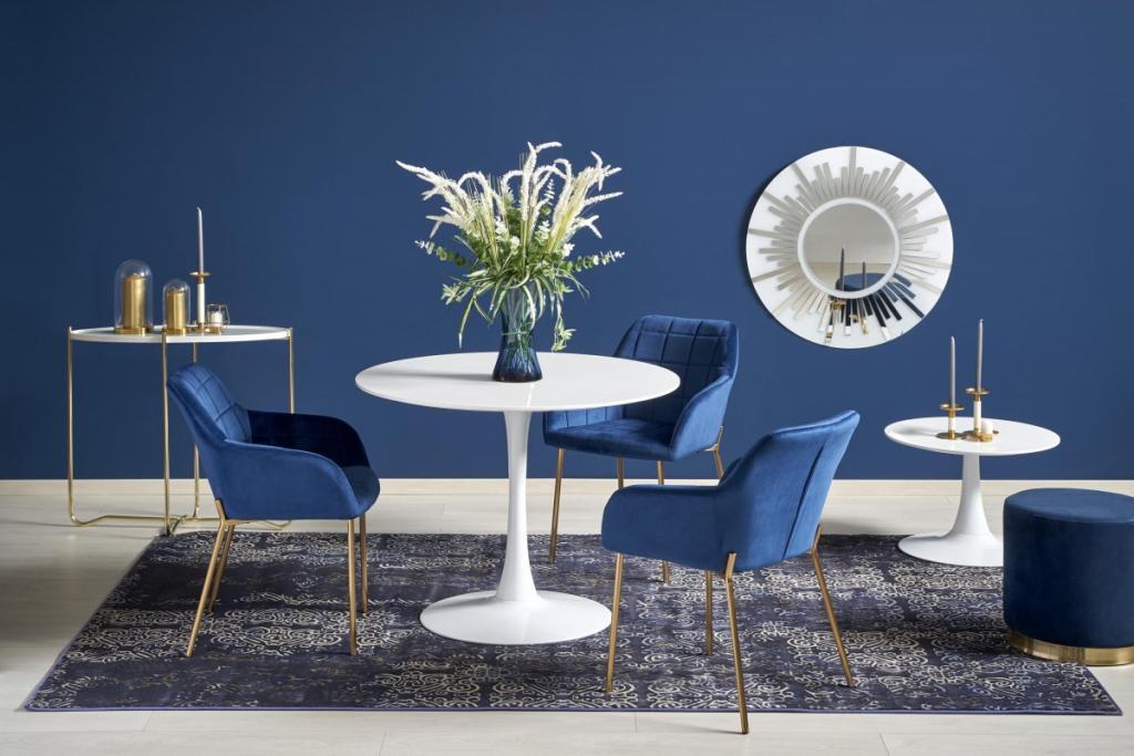 Produktové foto Halmar Kulatý jídelní stůl Slam bílý