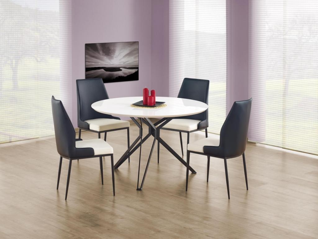 Produktové foto Halmar Kulatý jídelní stůl Unit bílý