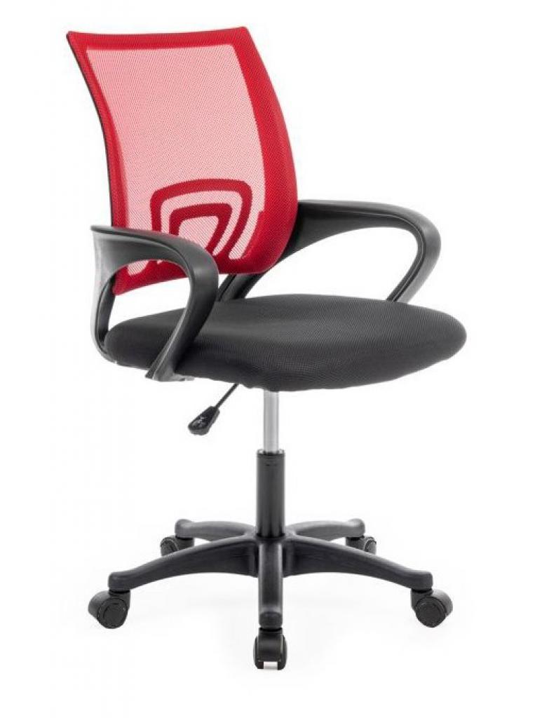 Produktové foto Shoptop Otočná židle Moris černo-červená