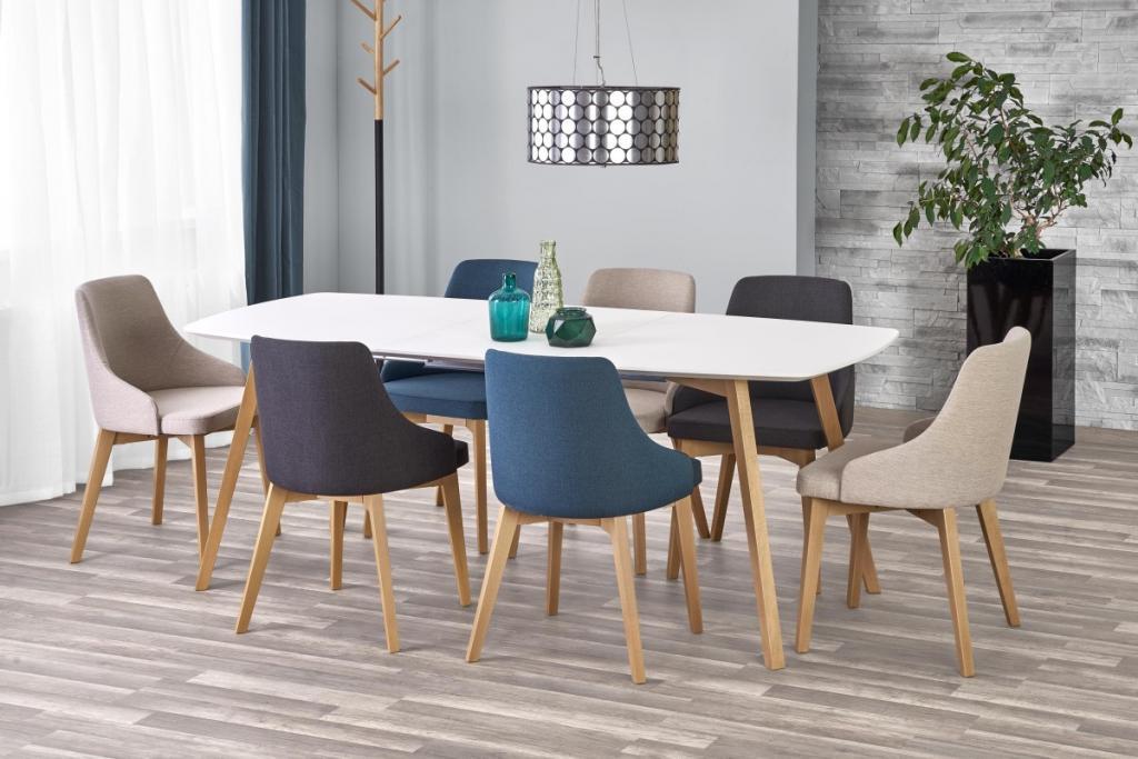 Produktové foto Halmar Rozkládací jídelní stůl Kajetan 150/200 bílý/dub medový