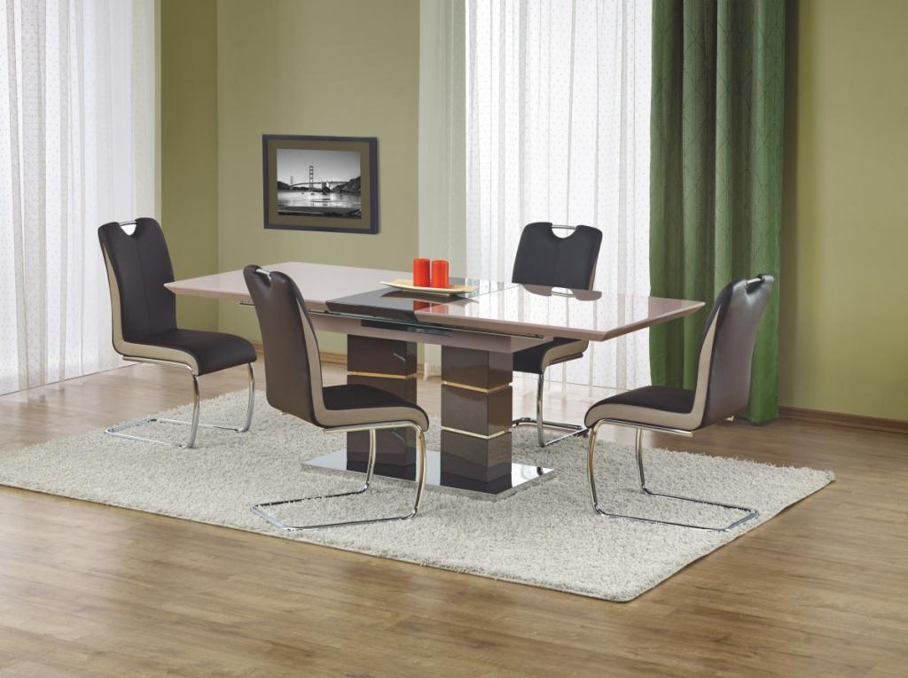 Produktové foto Halmar Rozkládací jídelní stůl Lord světle šedý/tmavě šedý