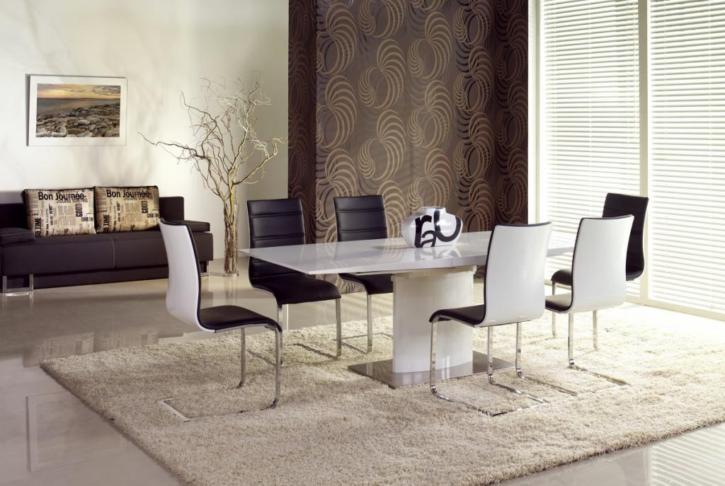 Produktové foto Halmar Rozkládací jídelní stůl Marcello bílý