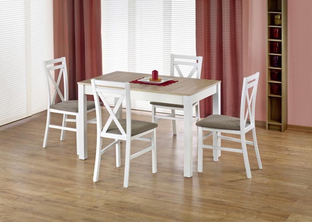 Produktové foto Halmar Rozkládací jídelní stůl Maurycy dub sonoma/bílá
