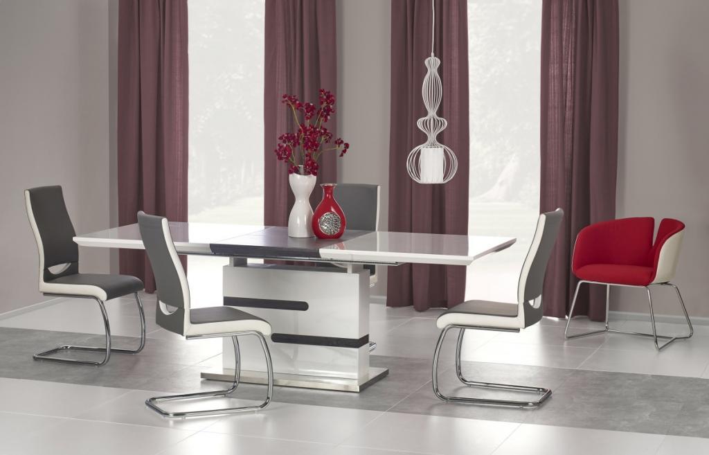 Produktové foto Halmar Rozkládací jídelní stůl Monaco bílý/šedý