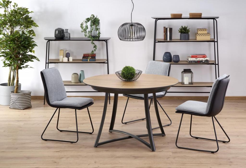 Produktové foto Halmar Rozkládací jídelní stůl Moretti dub zlatý/antracit