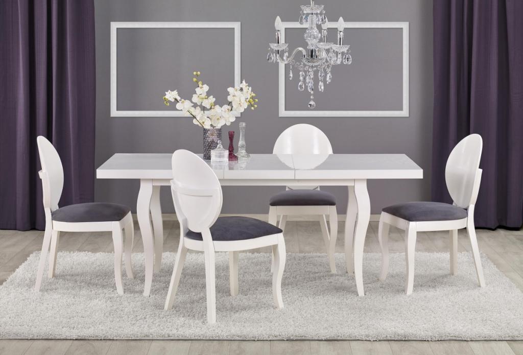 Produktové foto Halmar Rozkládací jídelní stůl Mozart 140/180 bílý