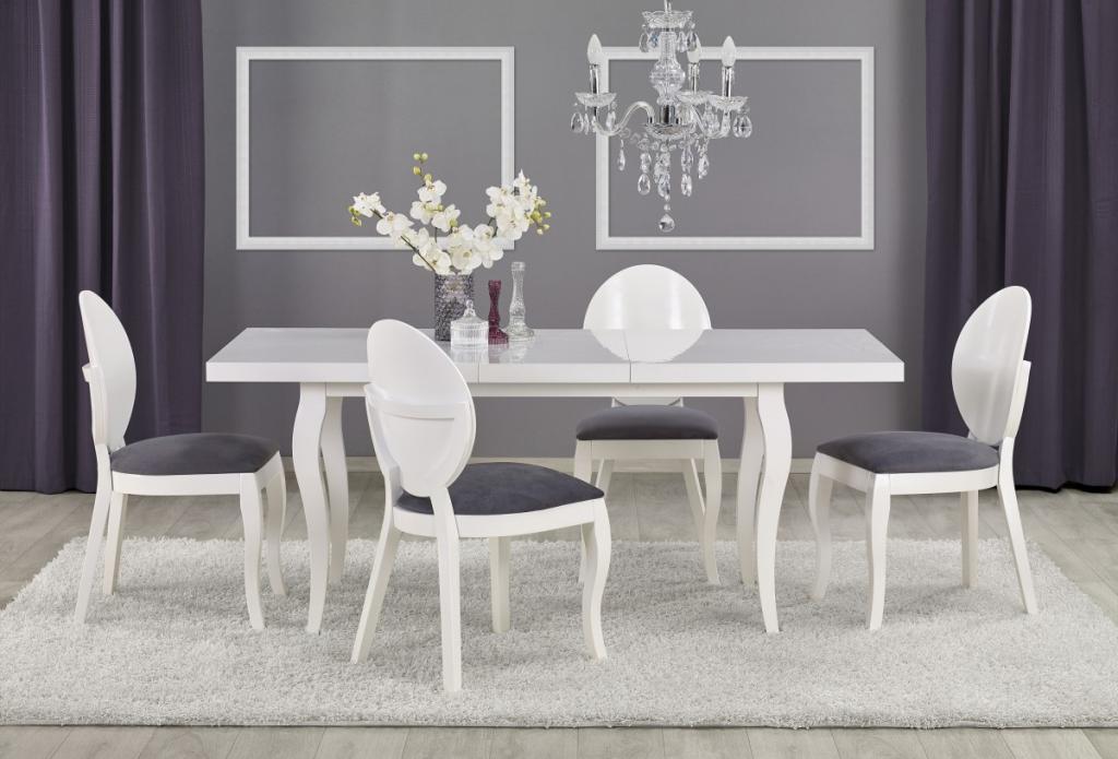 Produktové foto Halmar Rozkládací jídelní stůl Mozart 160/240 bílý