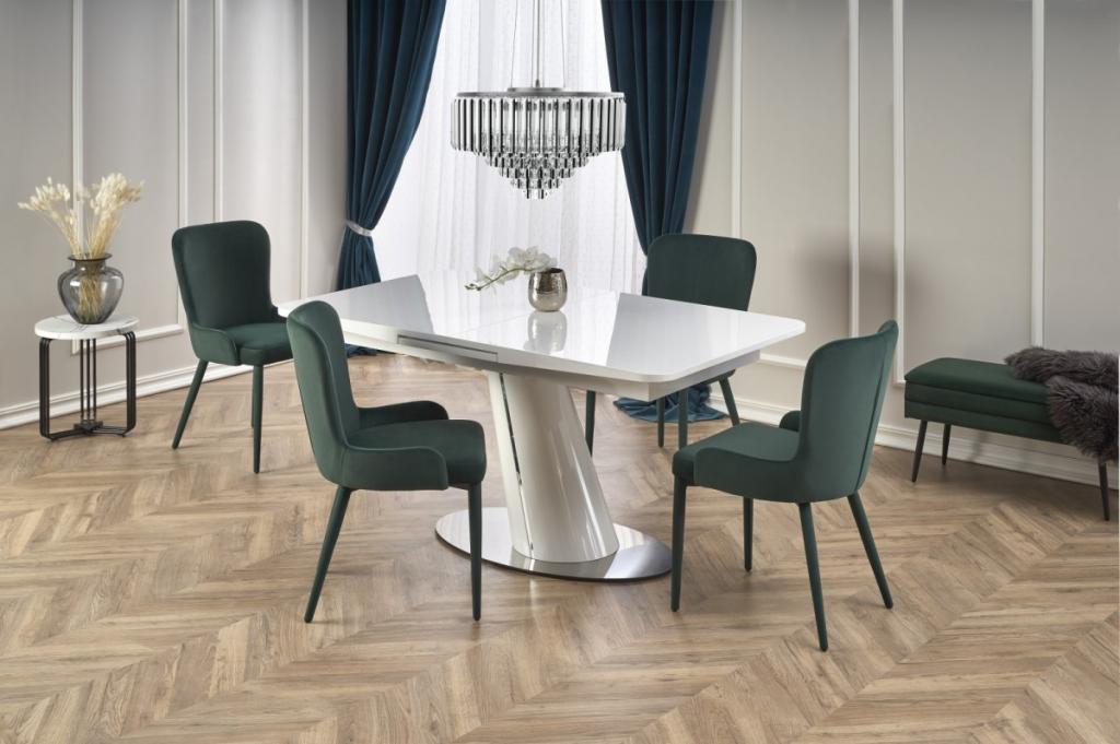 Produktové foto Halmar Rozkládací jídelní stůl Odense bílý