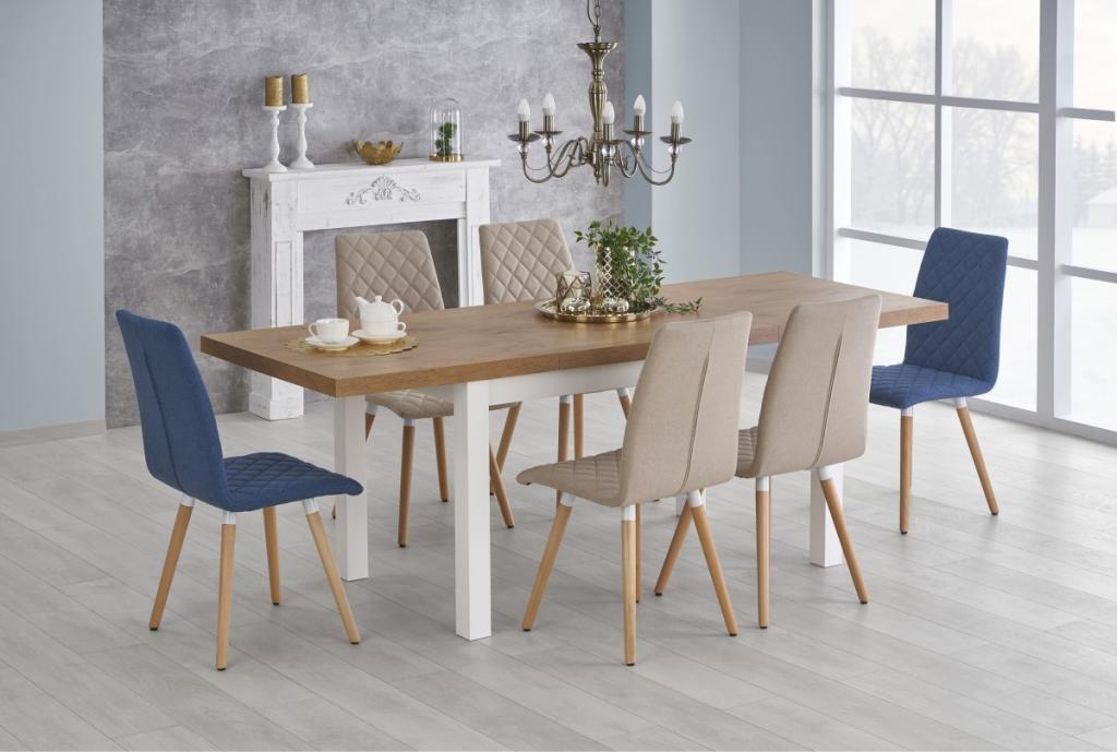 Produktové foto Halmar Rozkládací jídelní stůl Tiaro dub lancelot/bílá