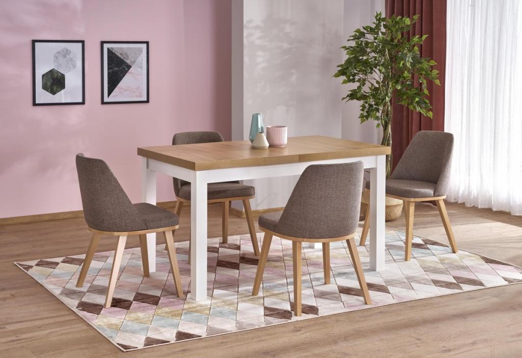 Produktové foto Halmar Rozkládací jídelní stůl Tiaro dub riviera/bílá