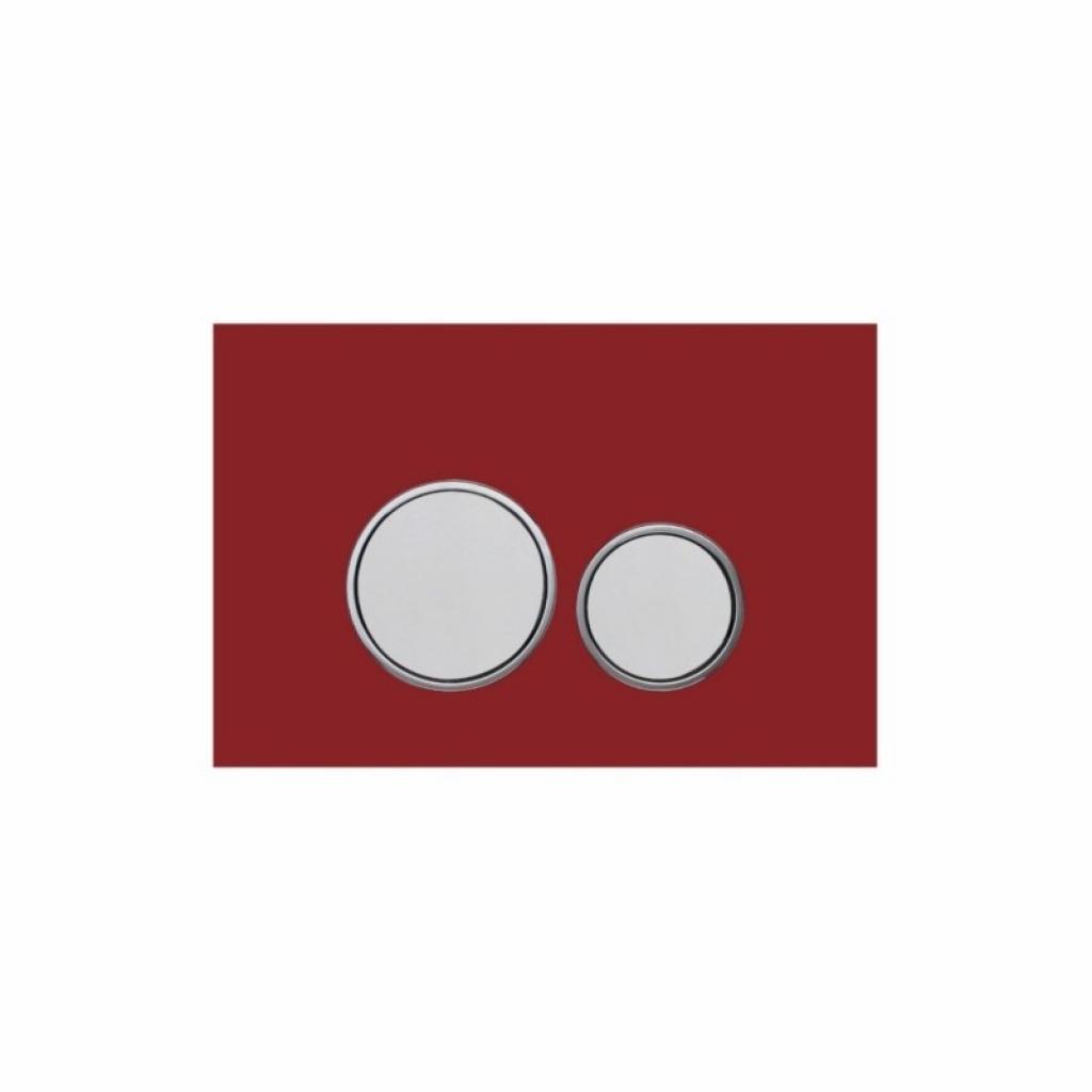 Produktové foto Skleněné WC tlačítko k nádržce MEXEN FENIX červené
