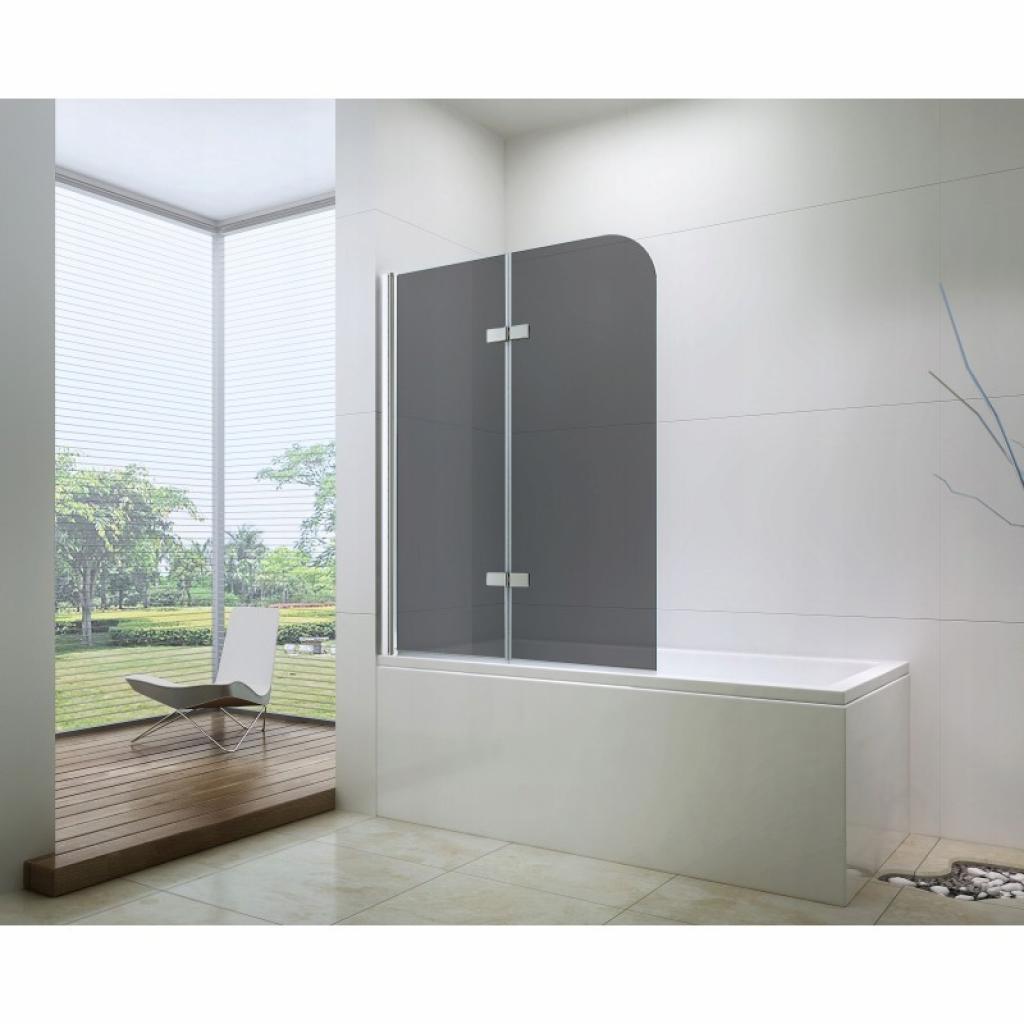 Produktové foto Sprchová zástěna na vanu MEXEN FELIX dvoukřídlá, šedé sklo, 70x140 cm