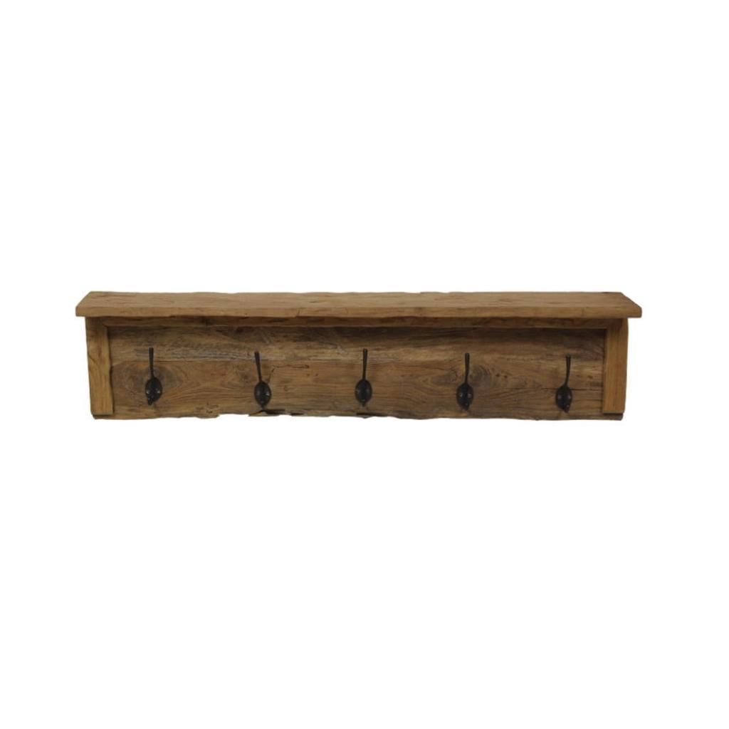 Produktové foto Nástěnný věšák z teakového dřeva HSM collection