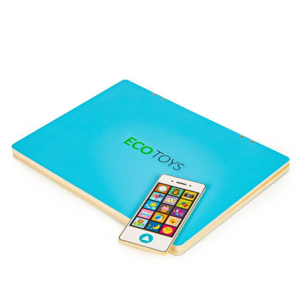 Produktové foto ECOTOYS Dětský edukační laptop TWIGY modrý