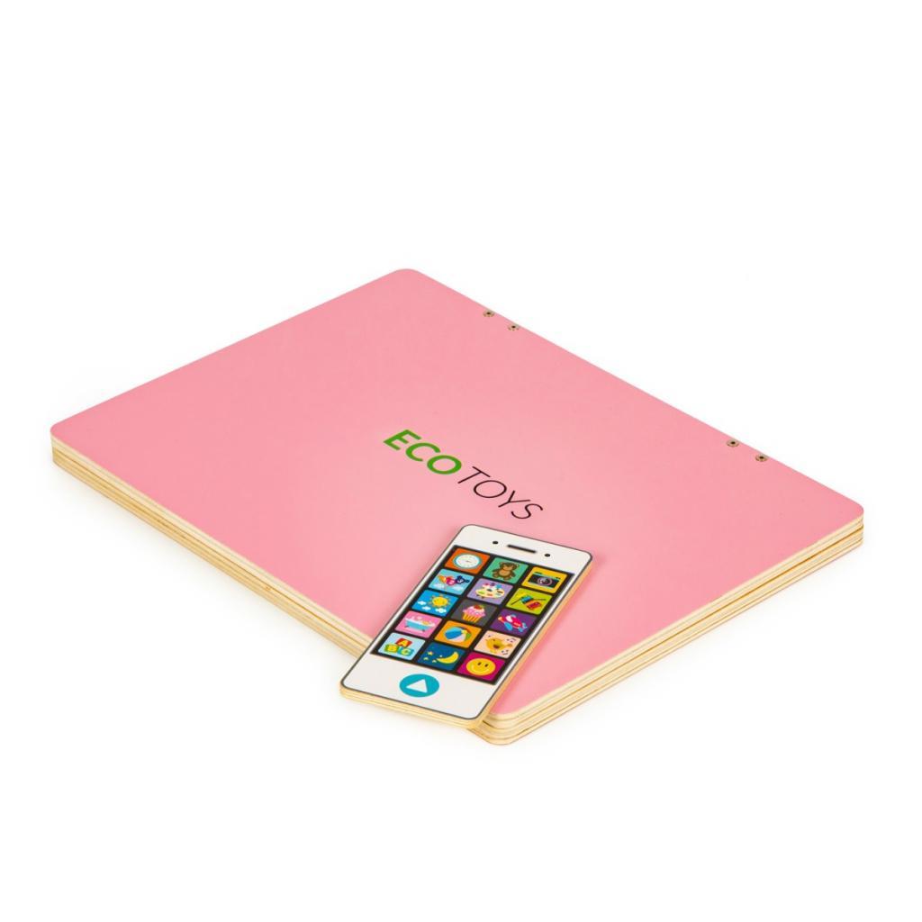 Produktové foto ECOTOYS Dětský edukační laptop TWIGY růžový