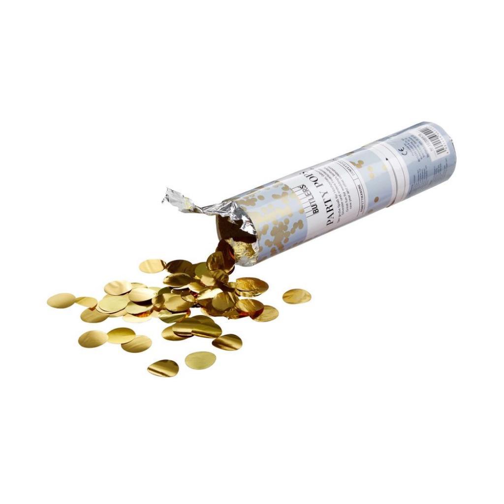 Produktové foto PARTY POPPER Konfety vystřelovací - zlatá