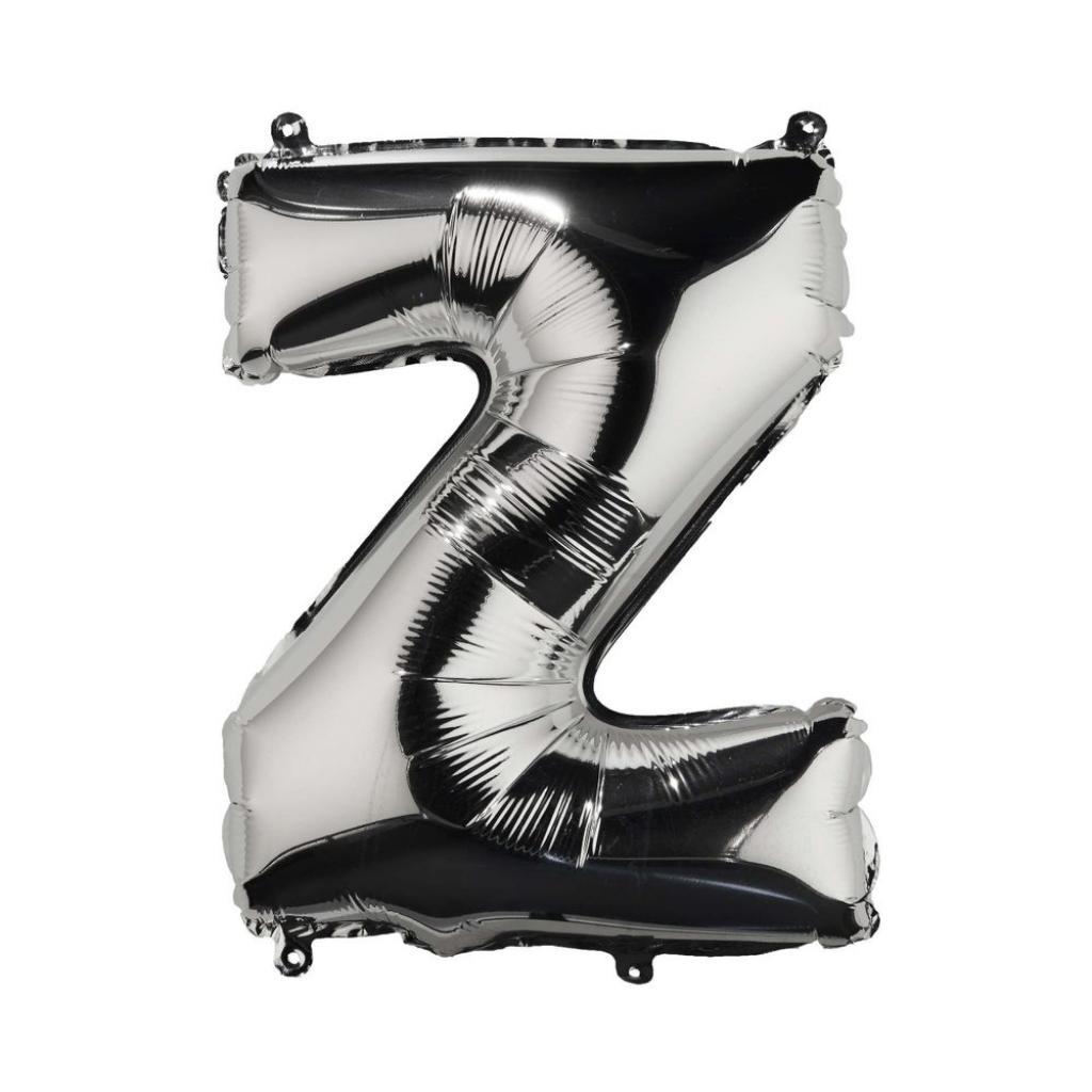 """Produktové foto UPPER CLASS Fóliový balónek """"Z"""" - stříbrná"""