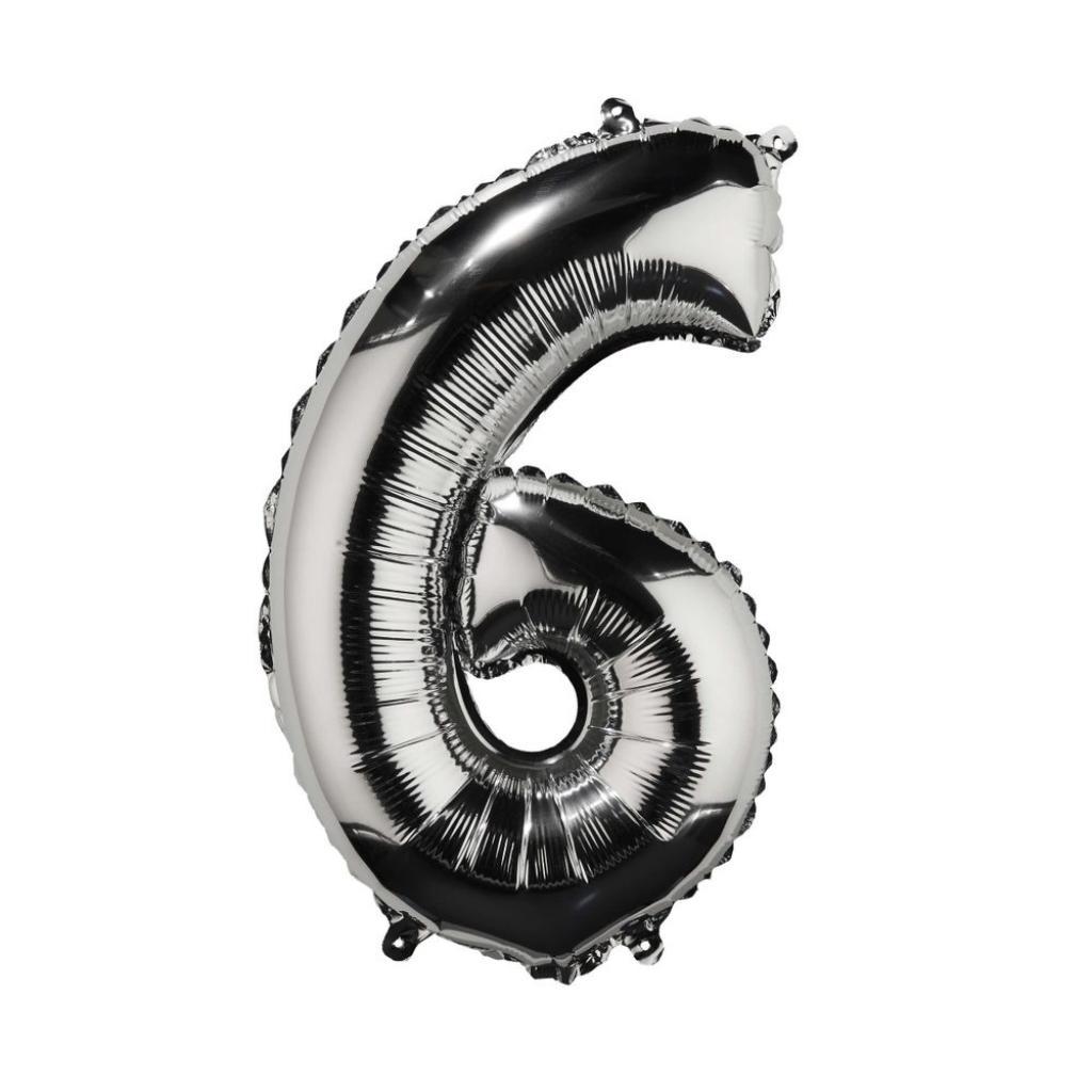 "Produktové foto UPPER CLASS Fóliový balónek ""6"" - stříbrná"