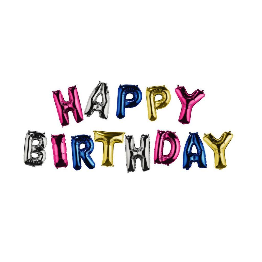 "Produktové foto UPPER CLASS Fóliový balónek ""HAPPY BIRTHDAY"" - mix"