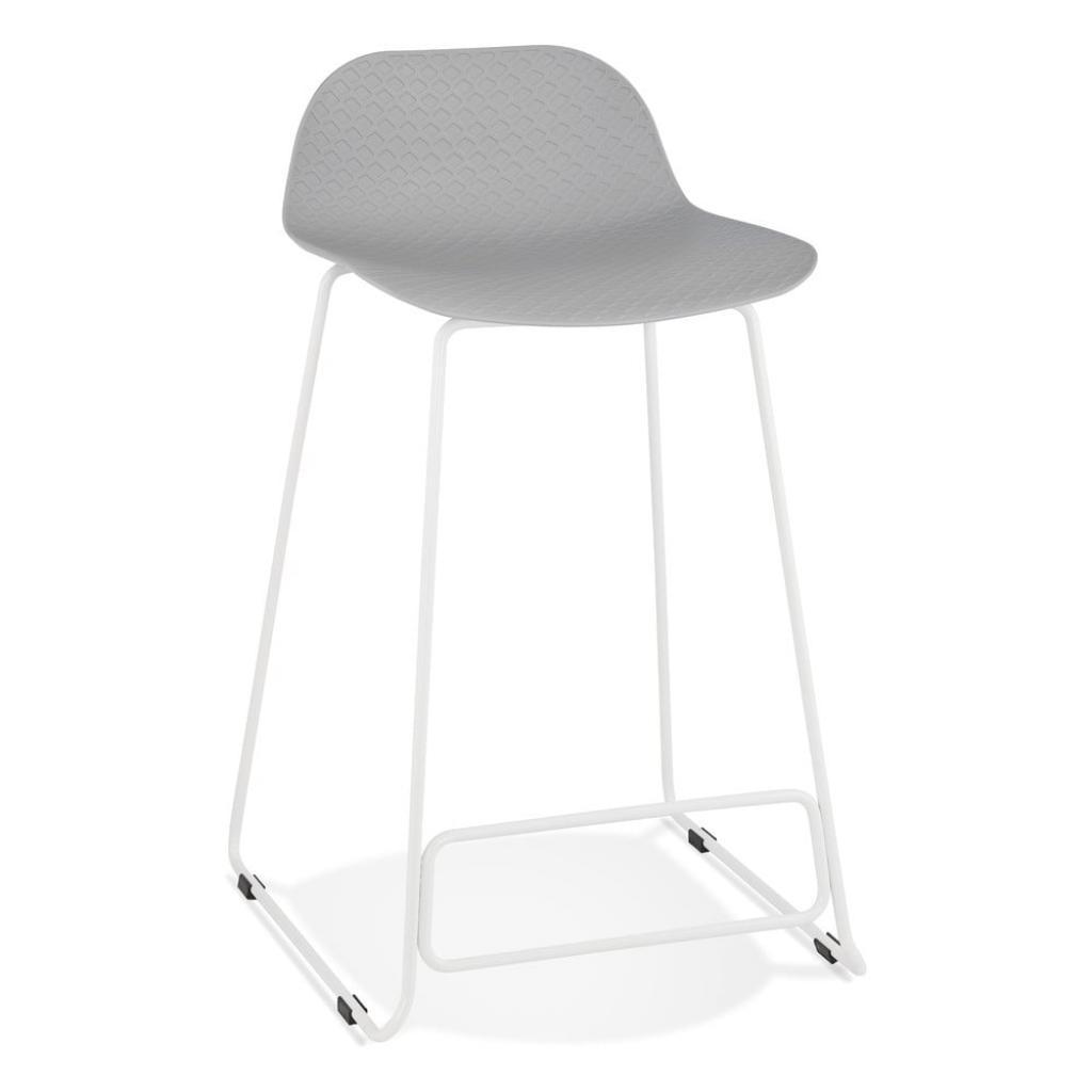 Produktové foto Šedá barová židle Kokoon Slade Mini, výškasedu66cm